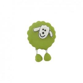Bouton Mouton vert anis