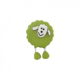 Button, sheep - lime