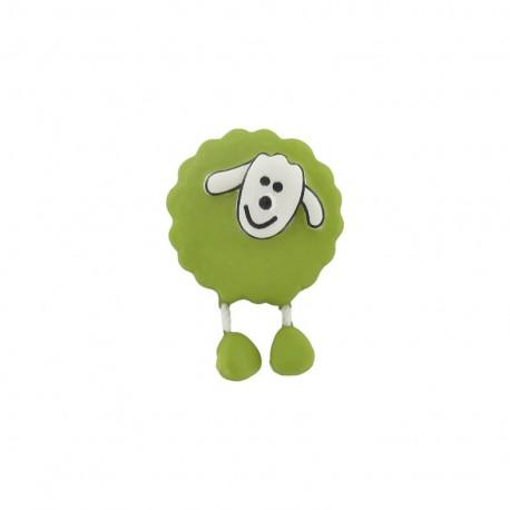 Button, sheep - lime