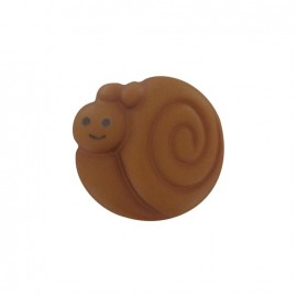 Button, smiling snail - chocolate