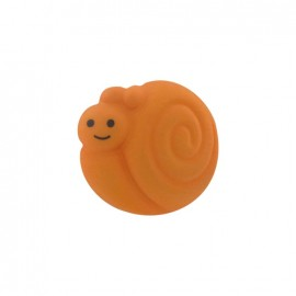 Button, smiling snail - orange
