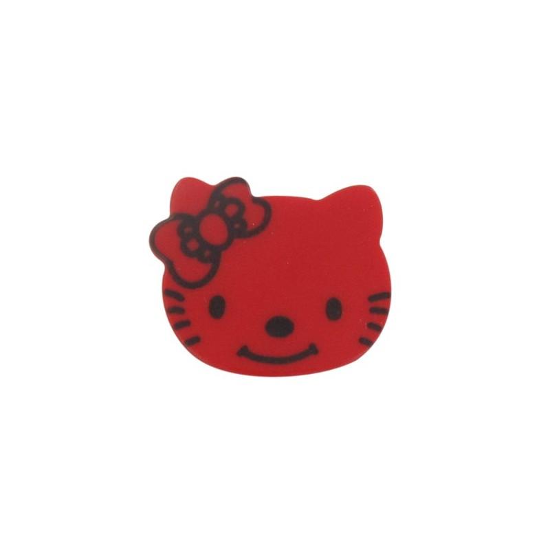 Hello kitty button red ma petite mercerie - Petite maison hello kitty ...