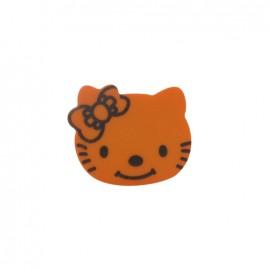 Hello Kitty button - orange