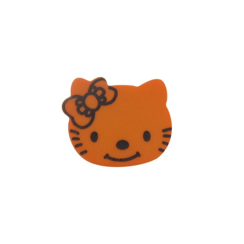 Hello kitty button orange ma petite mercerie - Petite maison hello kitty ...