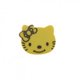 Hello Kitty button - yellow