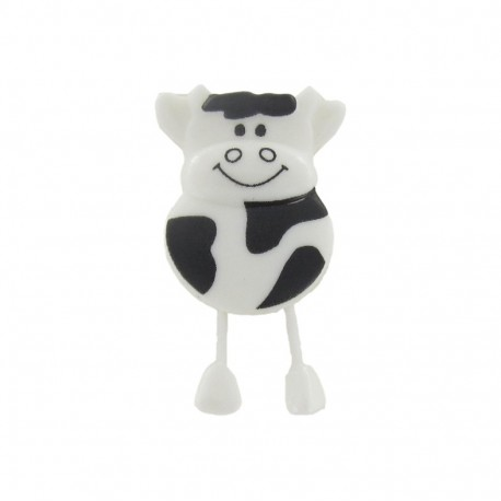 Button, cow - black and white