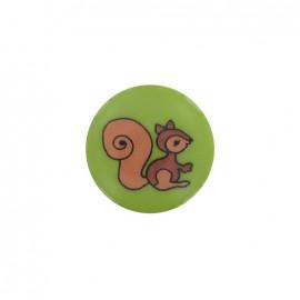 Button, Squirrel - lime