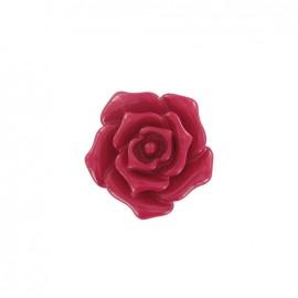 Bouton fleur rose fuchsia