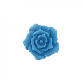 Button, rose flower - turquoise