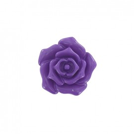 Button, rose flower - purple