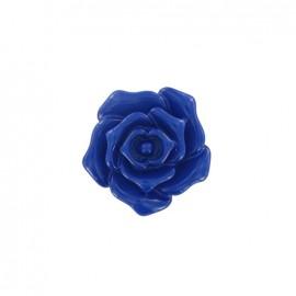 Bouton fleur rose bleu