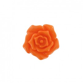 Button, rose flower - orange