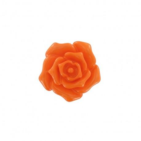 Bouton fleur rose orange
