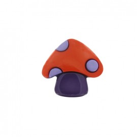 Mushroom button - orange/purple