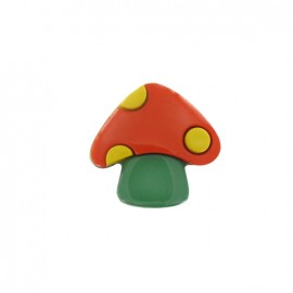 Mushroom button - orange/green