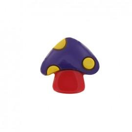Bouton Champignon violet / rouge