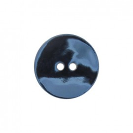Mother-of-Pearl button, metallic -  light blue