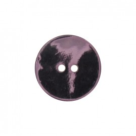 Mother-of-Pearl button, metallic - pink