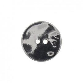 Bouton nacre métalisé argenté