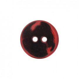 Mother-of-Pearl button, metallic - red