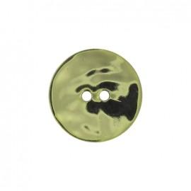 Bouton nacre métallisé vert pistache