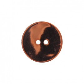 Mother-of-Pearl button, metallic - orange