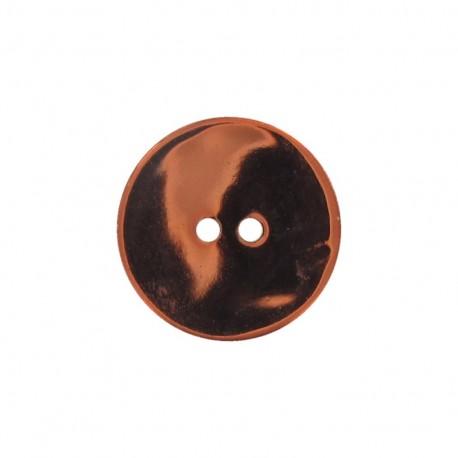 Bouton nacre métallisé orange
