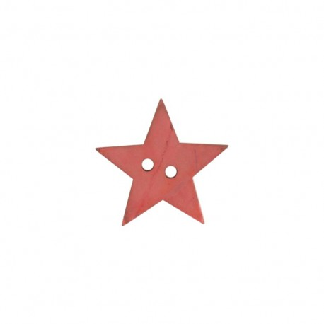 Polyester button, Star - flesh-colored