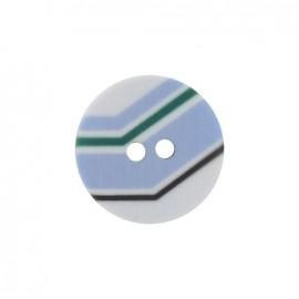 Bouton polyester Turn bleu ciel