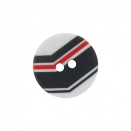 Polyester button, Turn - black