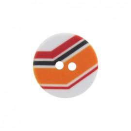 Polyester button, Turn - orange