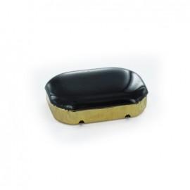 Enameled Sew-on rhinestone x 1- black/golden