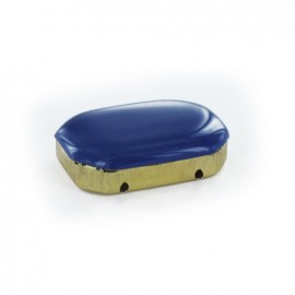 Enameled Sew-on rhinestone x 1- navy blue/golden