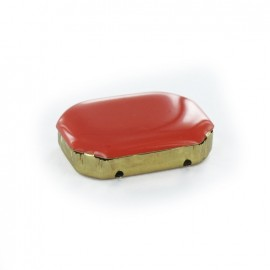 Enameled Sew-on rhinestone x 1- orange/golden
