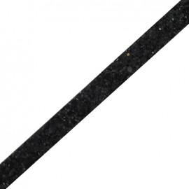Ruban plat Glitter noir x 10 cm
