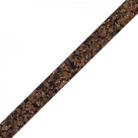 Glitter flat ribbon - copper
