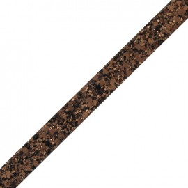 Ruban plat Glitter cuivre x 10 cm