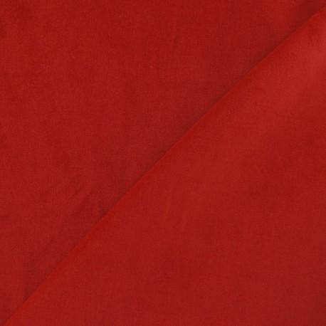 Tissu Velours ras rouge  x10cm