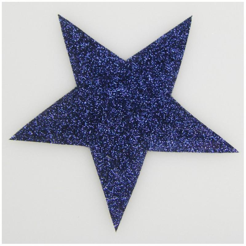 Étoile paillettes bleu - Ma Petite Mercerie