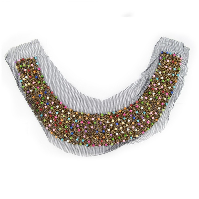 Beads decoration for collars iron on applique for Applique decoration
