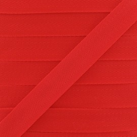 Polypropylene strap, herringbone 25 mm - red