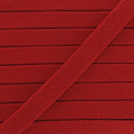 Cordon tubulaire rouge