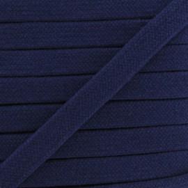 Cordon tubulaire bleu marine