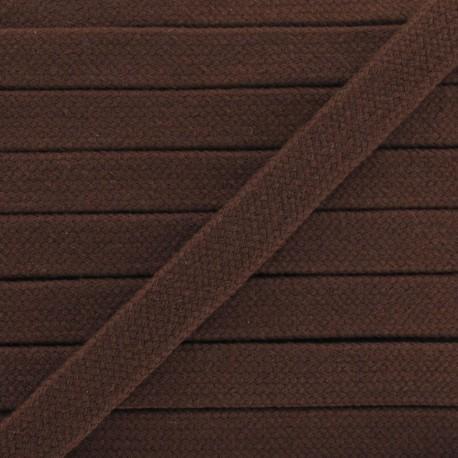 Cordon tubulaire marron