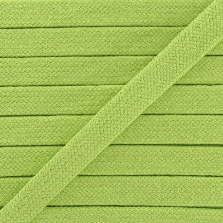 Cordon tubulaire vert anis