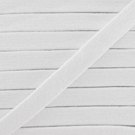 Cordon tubulaire blanc