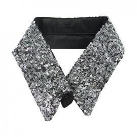 Sequins collar - silver