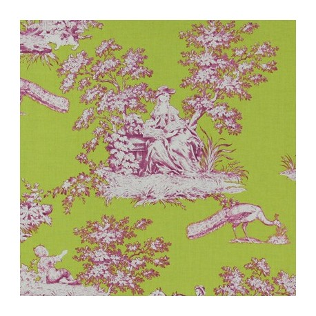 tissu oeko tex toile de jouy french cottage vert anis x 10cm ma petite mercerie. Black Bedroom Furniture Sets. Home Design Ideas