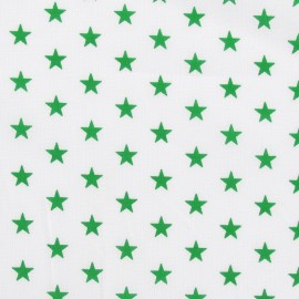 Stars Fabric - Green / White x 10cm