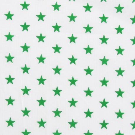 Tissu Etoiles vert/blanc x 10cm